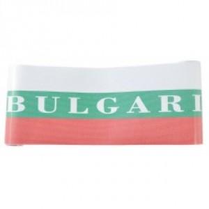 Перфорирано фолио за автомобилни стъкла в цветовете на българския трикольор и надпис Bulgaria