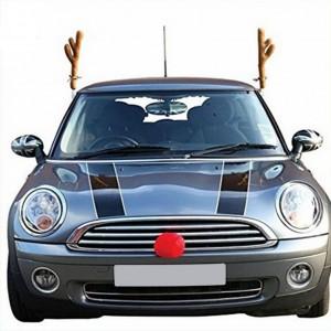 Коледни еленски рога и нос за автомобил.